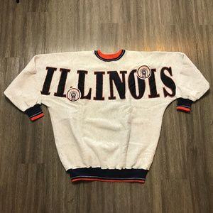 Vintage Illinois Fighting  Sweatshirt Big Letters